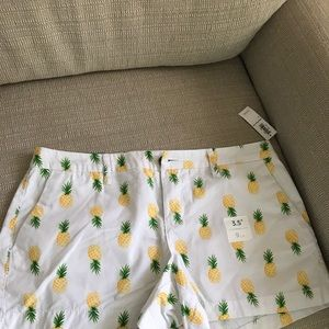 Old navy pineapple shorts size four NWT!!